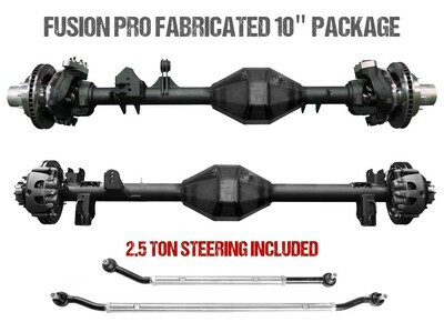 "Fusion Pro Series Fabricated 10"" Axles - Jeep Wrangler JK"