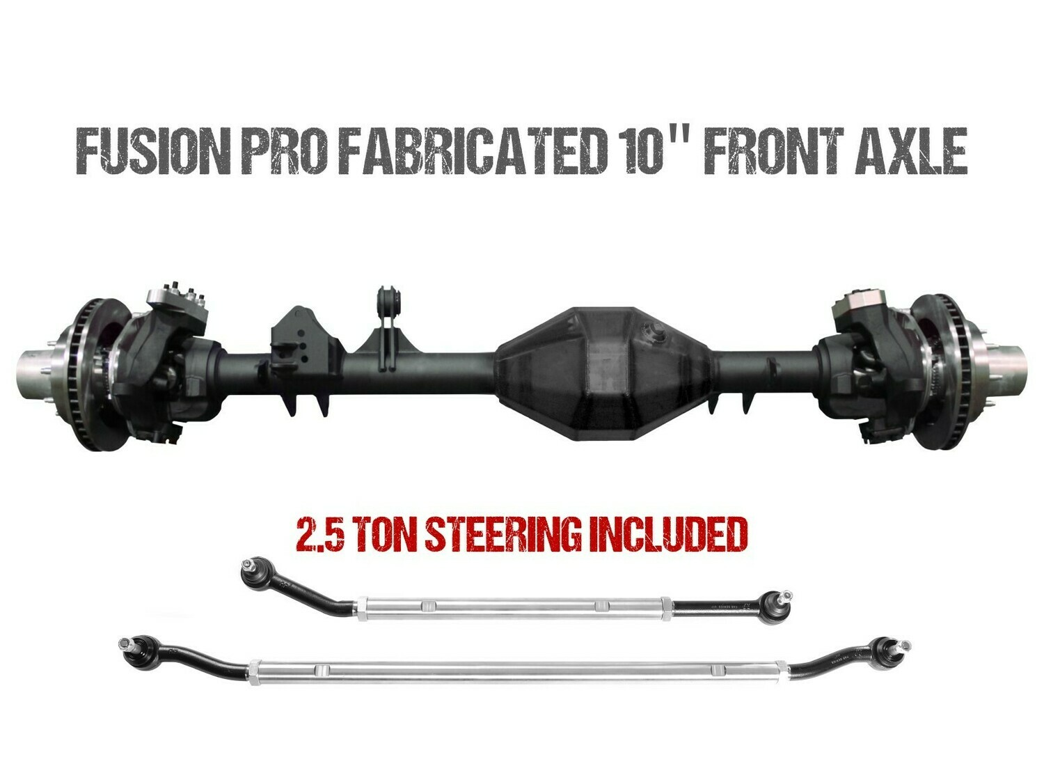 """Fusion Pro Series Fabricated 10"""" Front Axle - Jeep JT"""