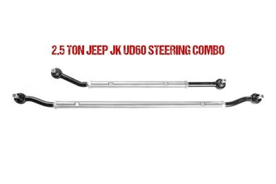 Jeep JK Ultimate Dana 60 2.5 Ton Tie Rod & Drag Link Combo