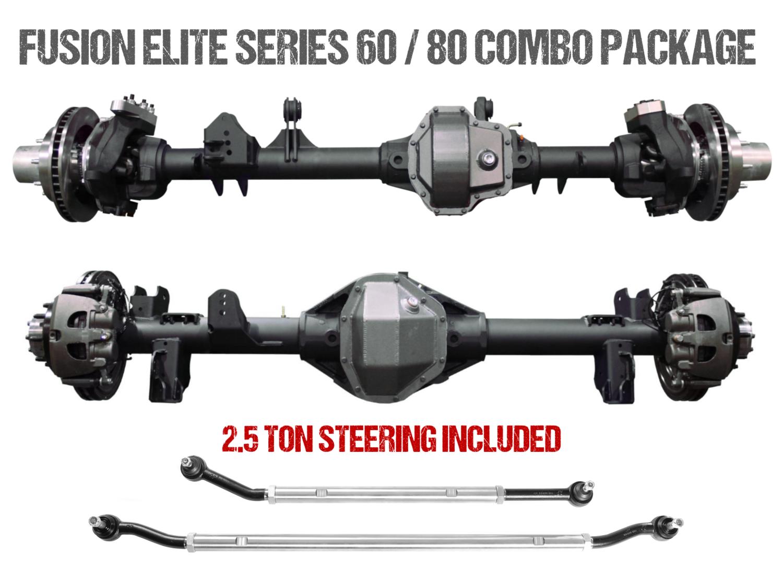 Fusion Elite Kingpin 60   Elite 40 Spline 80 - Jeep Gladiator JT