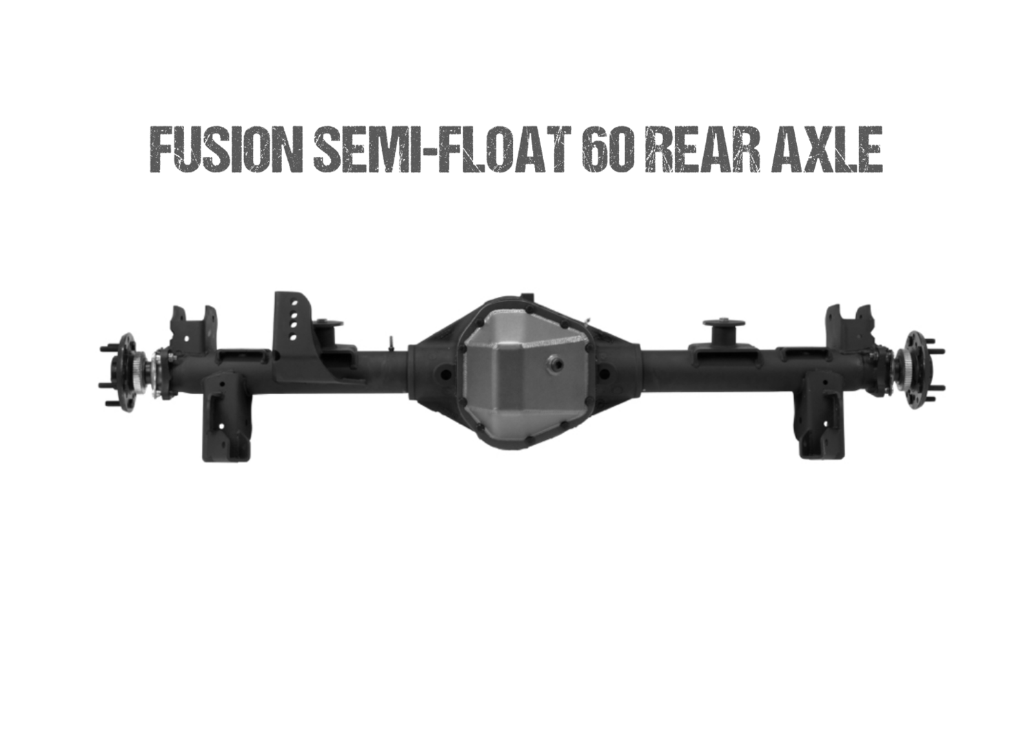 Fusion BIG TUBE Semi-Float 60 Rear Axle Assembly for Jeep JK