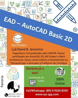 EAD - AutoCAD Basic 2D - Da Criação à Impressão