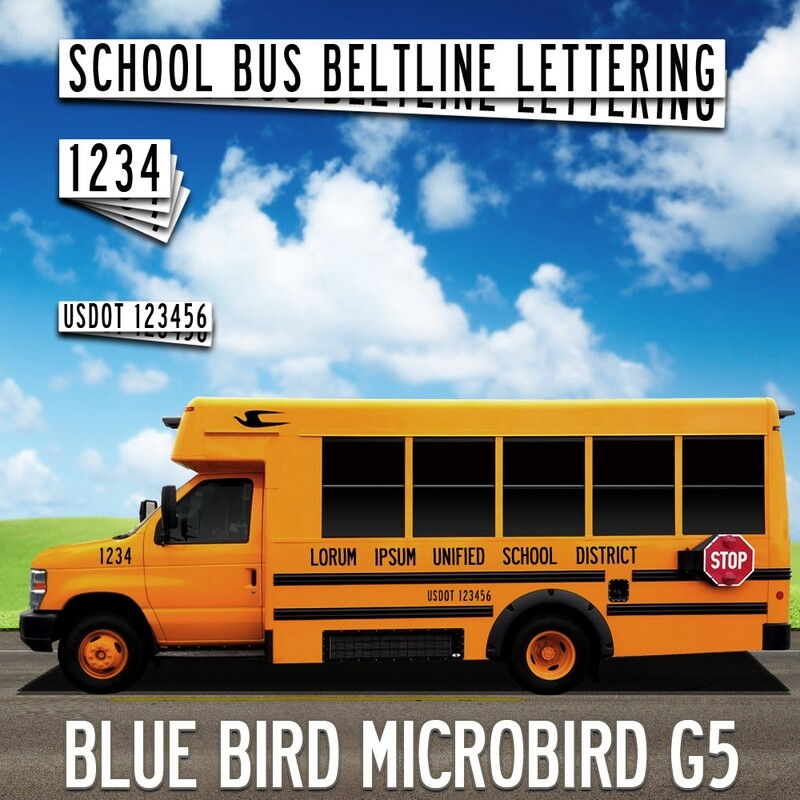 Blue Bird Micro Bird G5 Lettering