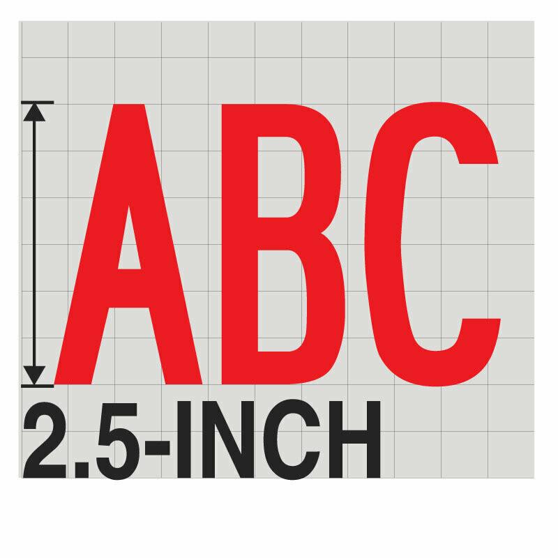 2.5-Inch RED VINYL LETTERING
