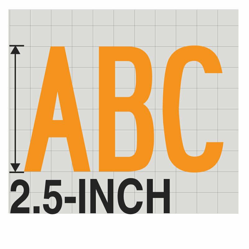 2.5-Inch YELLOW VINYL LETTERING