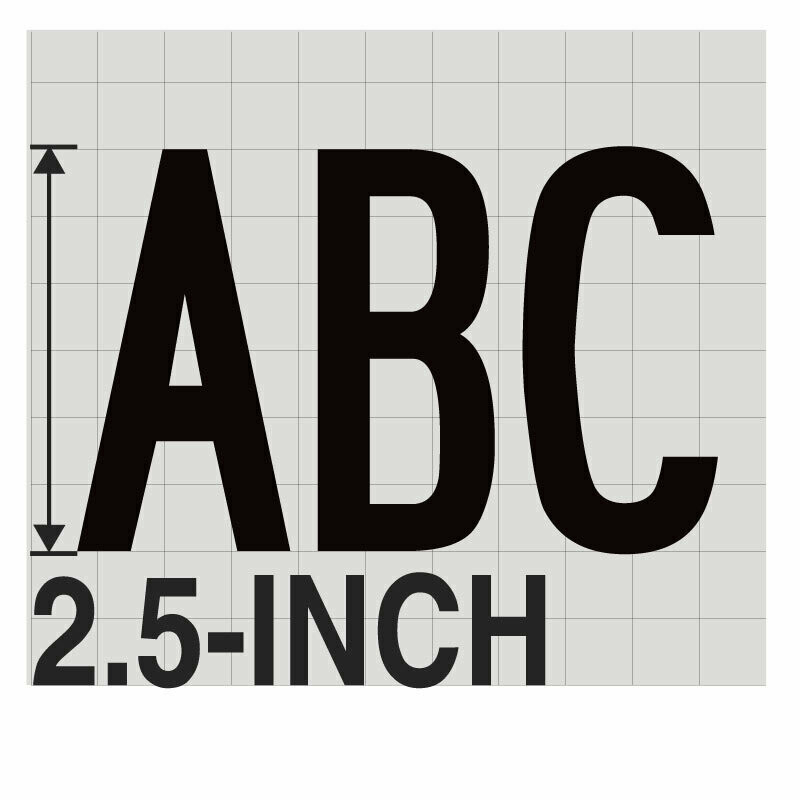 2.5-Inch BLACK VINYL LETTERING