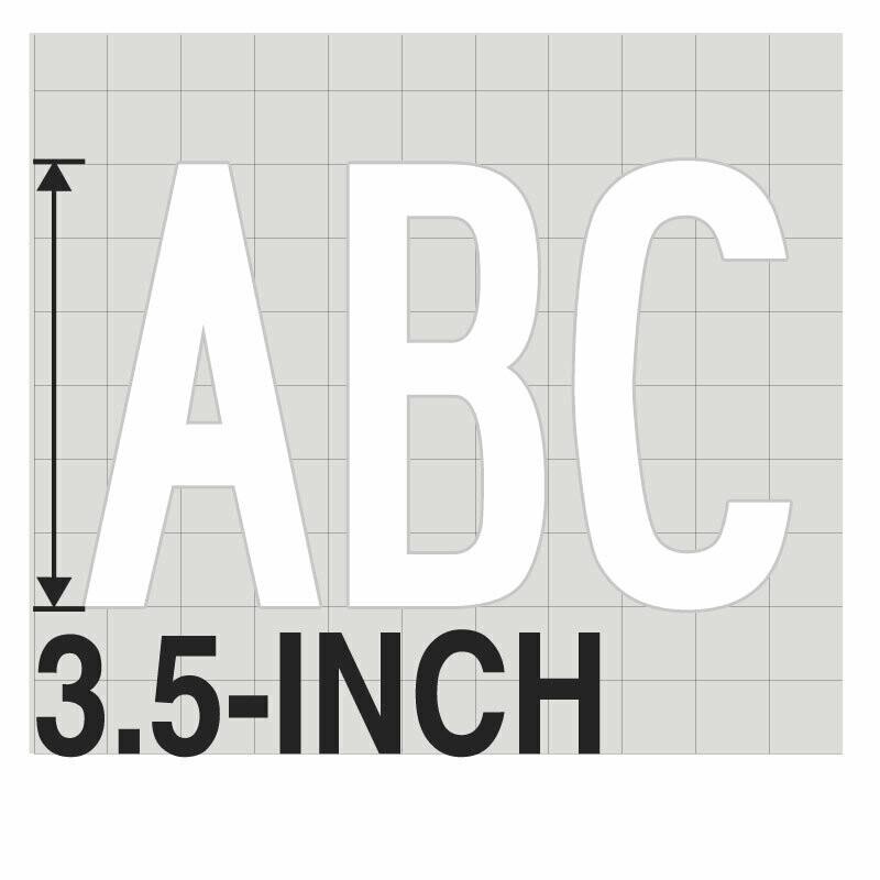 3.5-Inch WHITE VINYL LETTERING