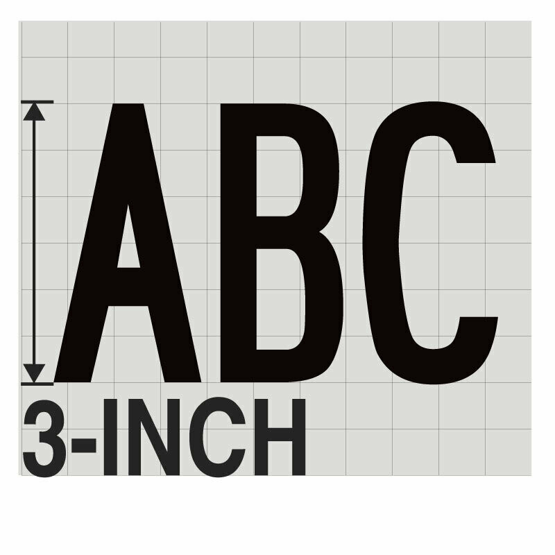 3-Inch BLACK VINYL LETTERING