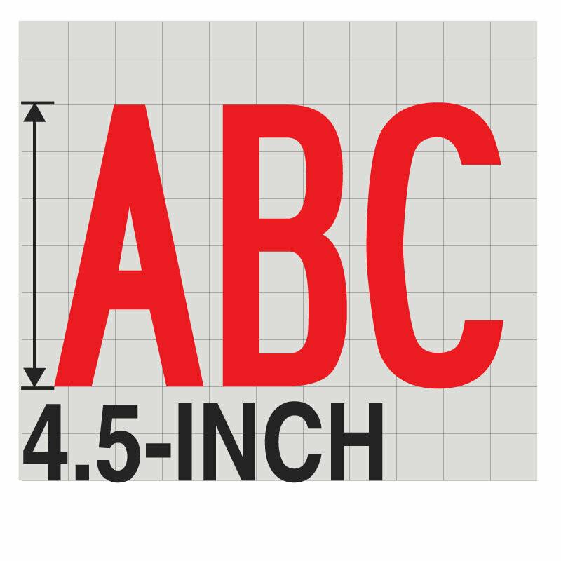 4.5-Inch RED VINYL LETTERING