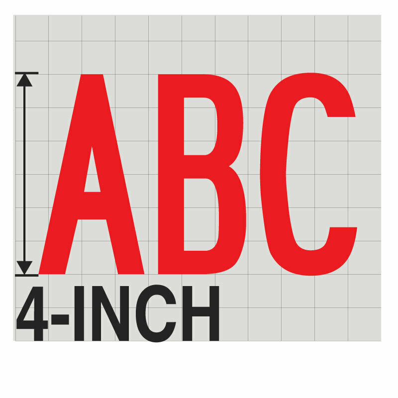4-Inch RED VINYL LETTERING
