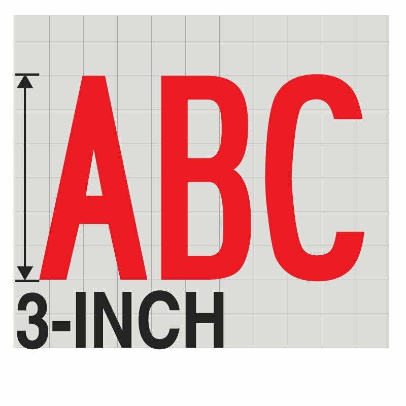 3-Inch RED VINYL LETTERING