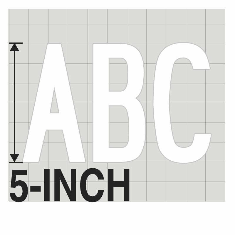 5-Inch WHITE VINYL LETTERING