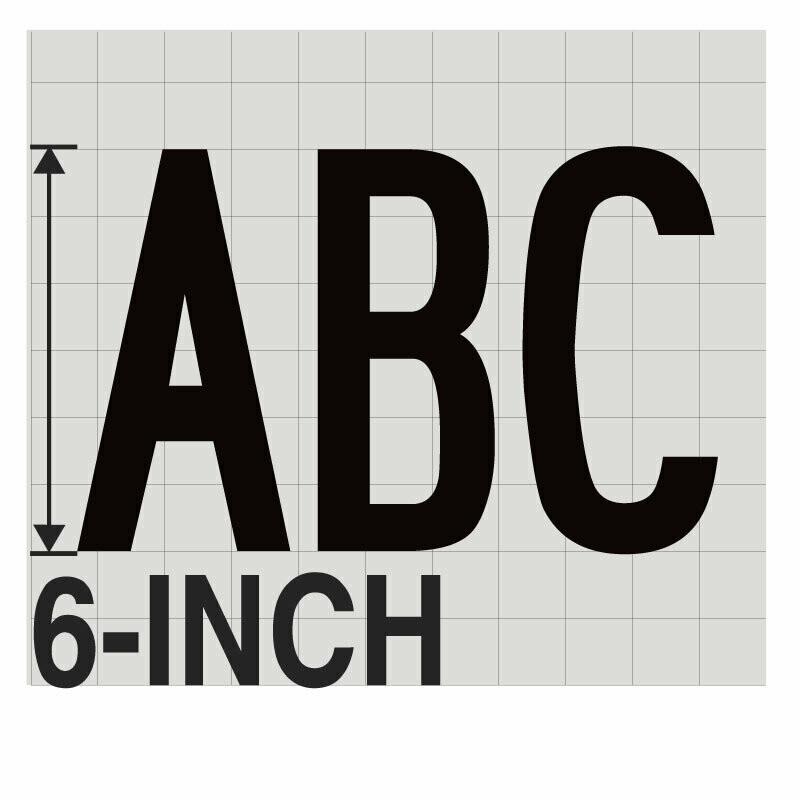 6-Inch BLACK VINYL LETTERING