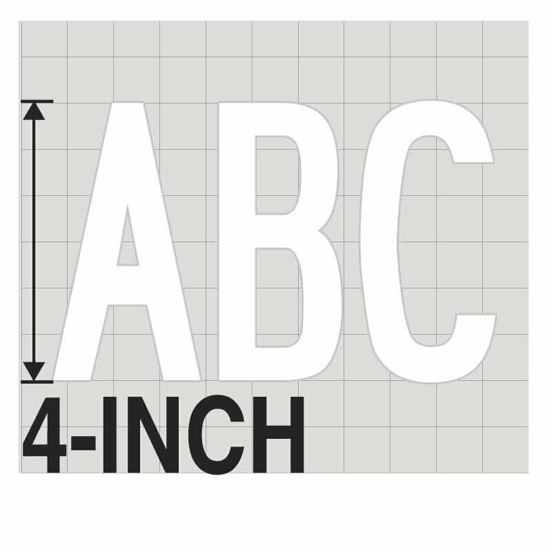 4-Inch WHITE VINYL LETTERING