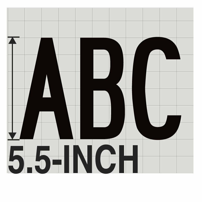 5.5-Inch BLACK VINYL LETTERING