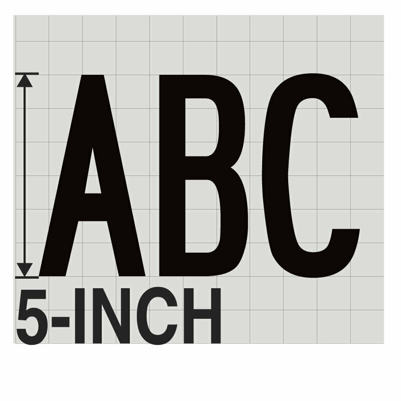 5-Inch BLACK VINYL LETTERING