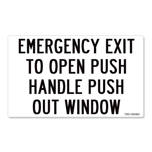 Emergency Exit Push Handle Push Out Window