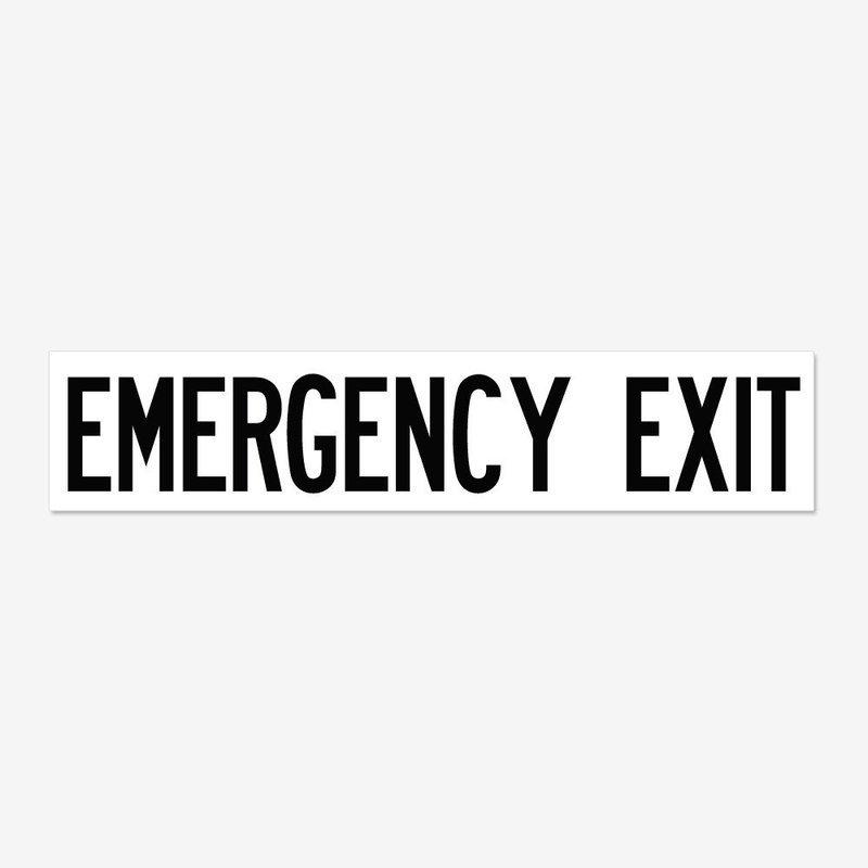 Emergency Exit- Black