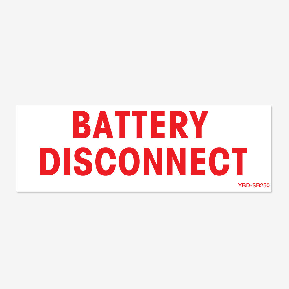 Battery Disconnect - Red