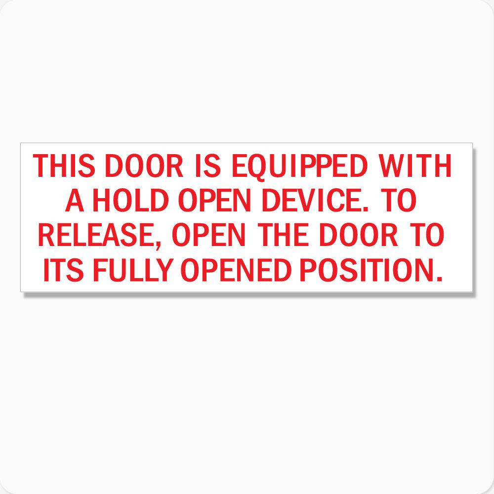 Door Hold Open Device Instructions