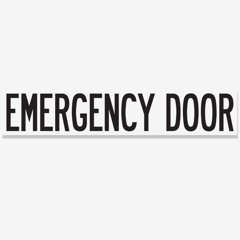 Emergency Door - Black
