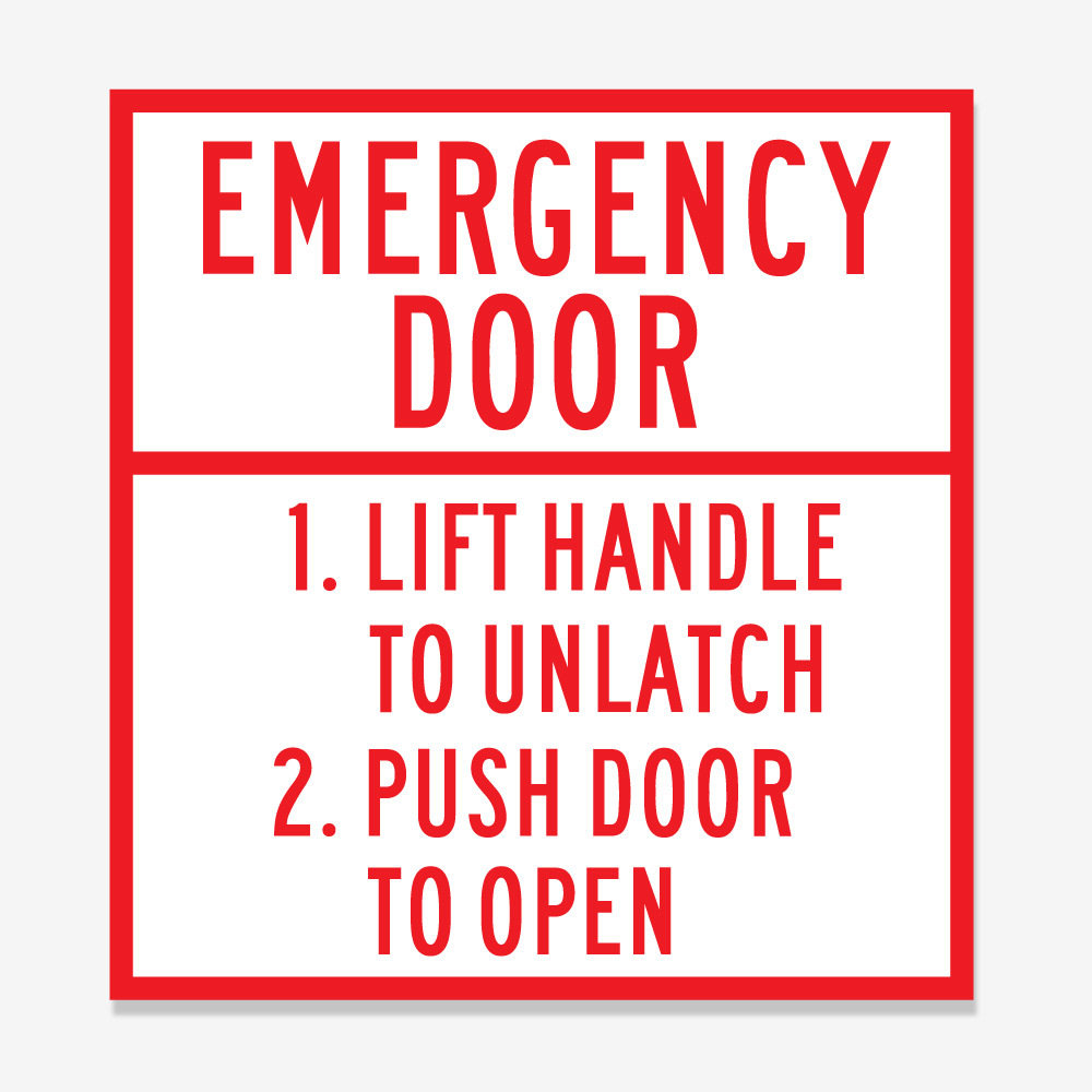 Emergency Door Identification and Instructions