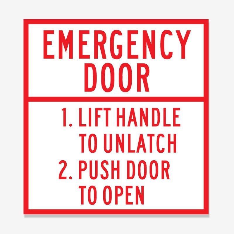 Emergency Door Identification and Instructions