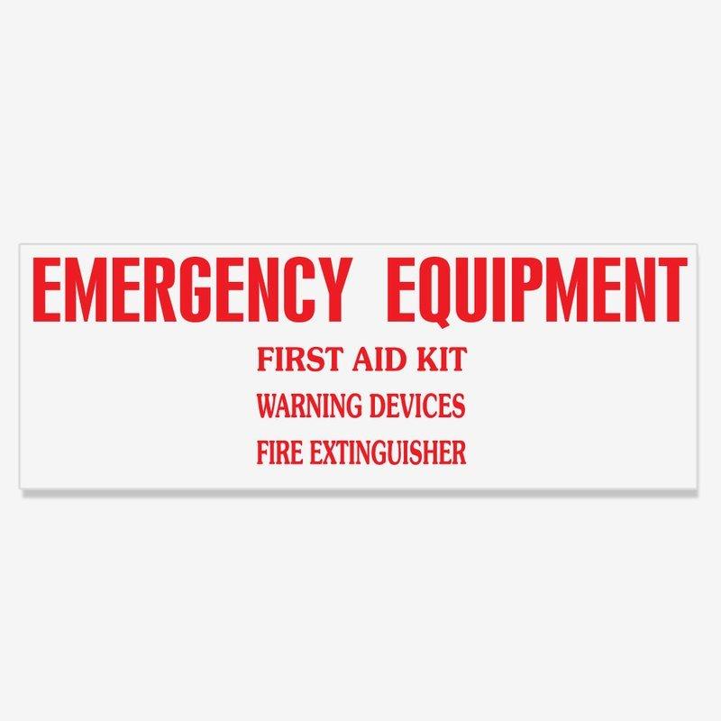 Emergency Equipment Decal