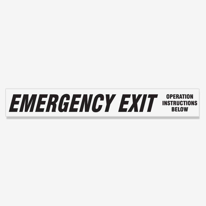 Emergency Exit Instructions Below