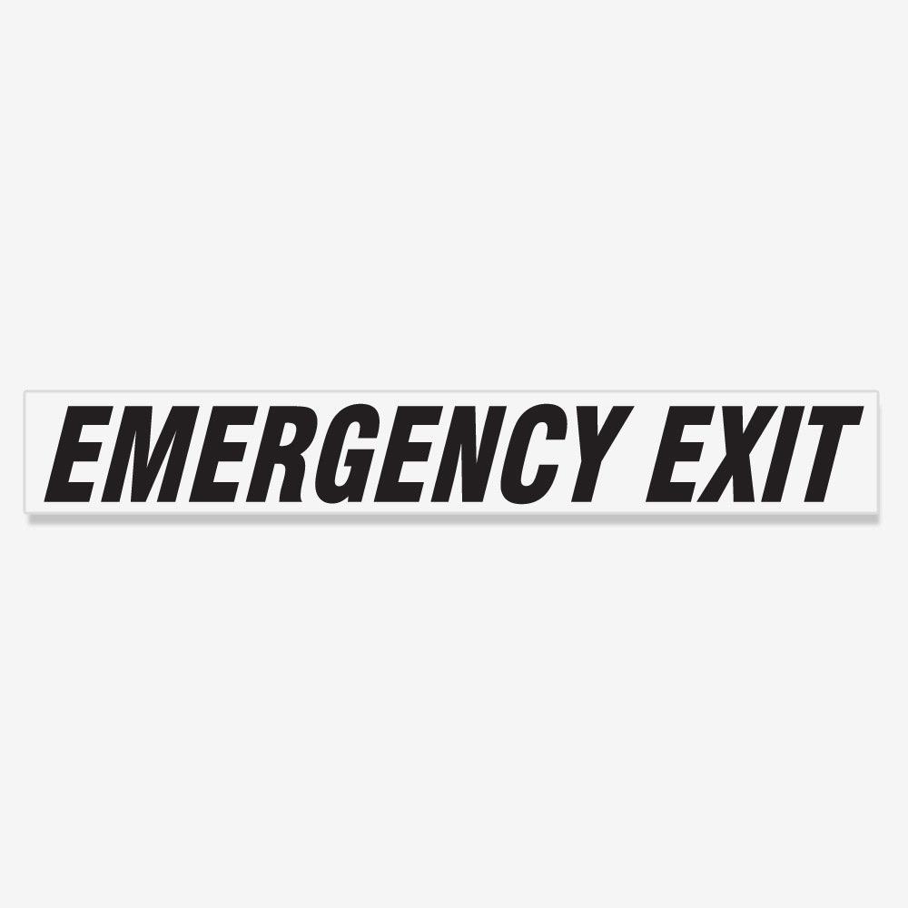 Emergency Exit Italic- Black