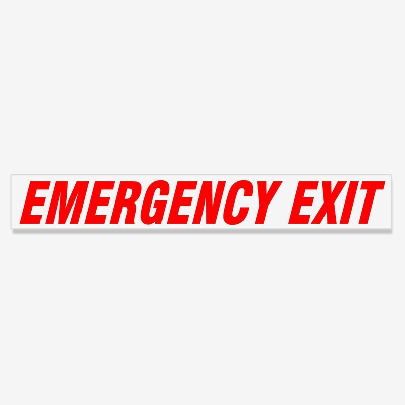 Emergency Exit Italic- Red