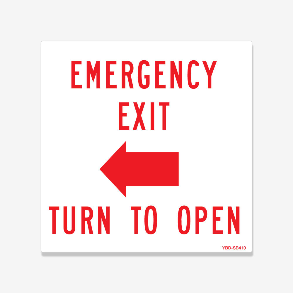 Emergency Exit Turn to Open