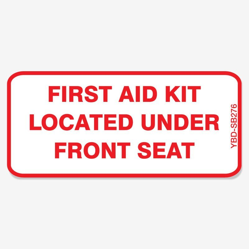 First Aid Kit Located Under Front Seat