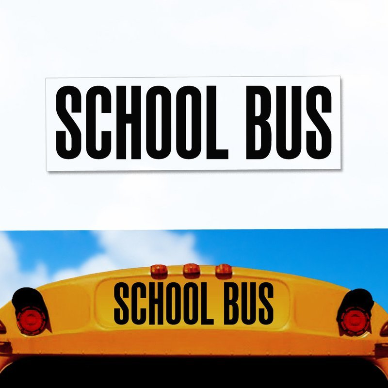 School Bus Decal 8