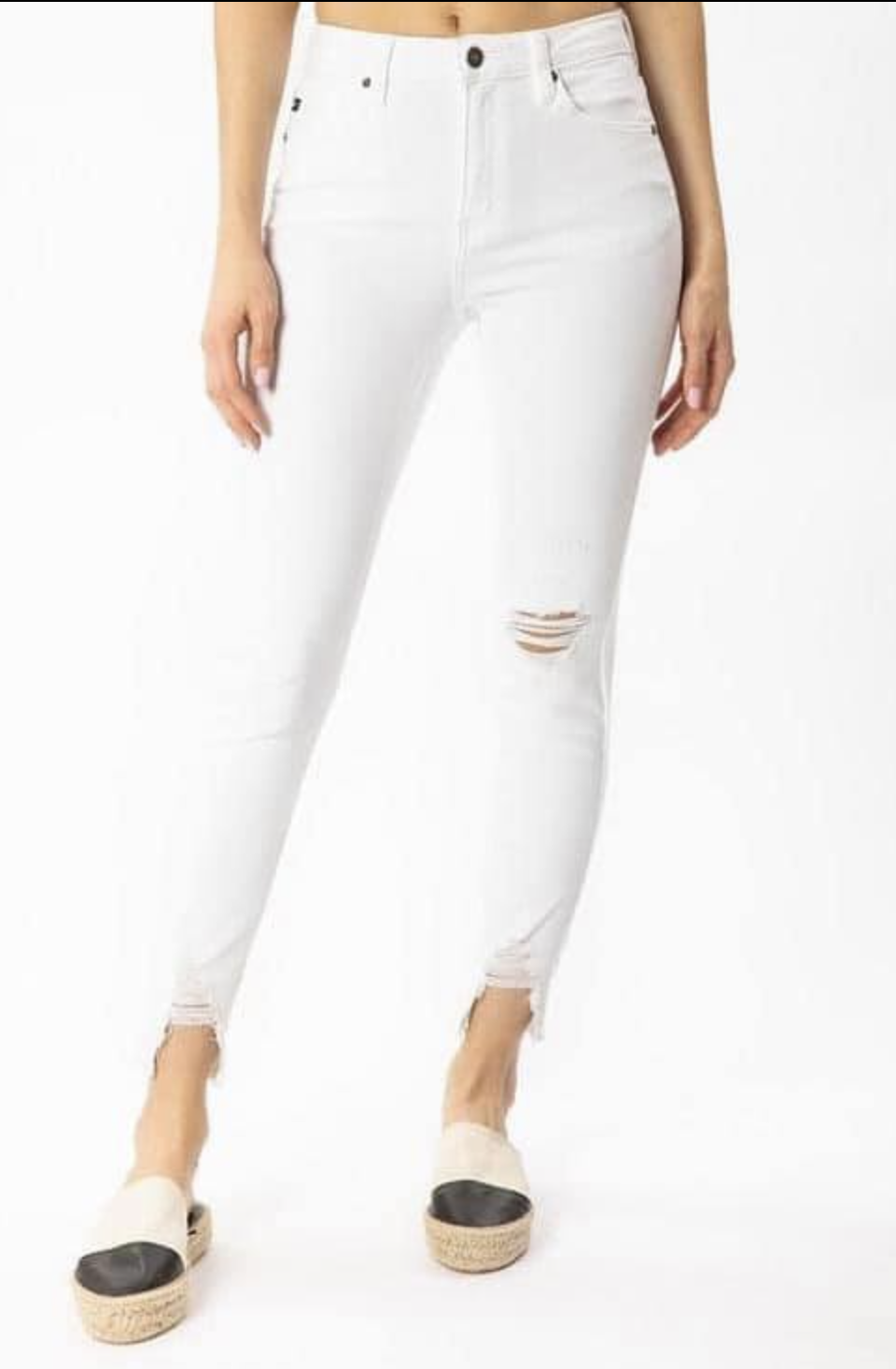 White KanCan jeans (distressed)