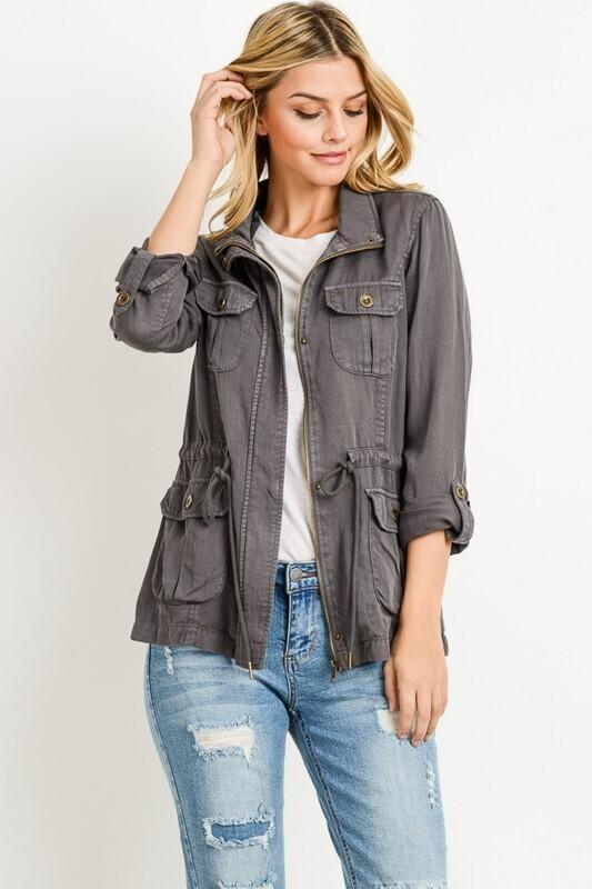 Gray tencel jacket