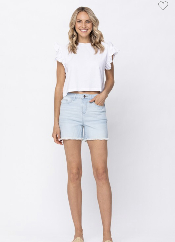 Bleach Blue Judy Blue Denim Shorts