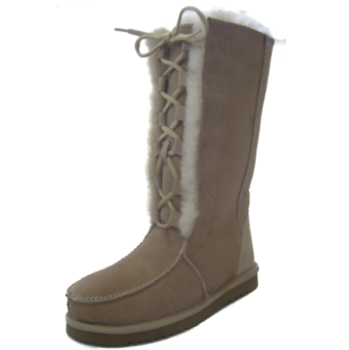 Front Lace-Up Ugg Boots Tall
