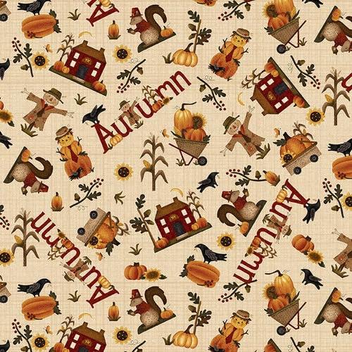 Henry Glass Buttermilk Autumn Novelty Toss Cream