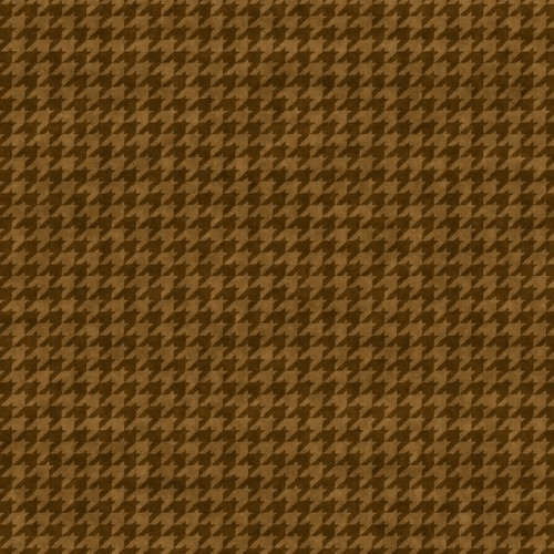 Henry Glass Hounds Tooth Basic Brown