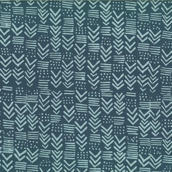 Hoffman Hand Dyed Batik Challenge Pewter