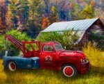 Art Licencing Vintage Towing Truck Panel