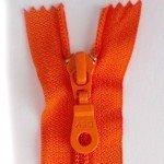 """A B Q Designer Bag Zipper 22"""" Cherry Tomato"""