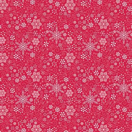 Contempo Mulberry Lane Snowflakes Red