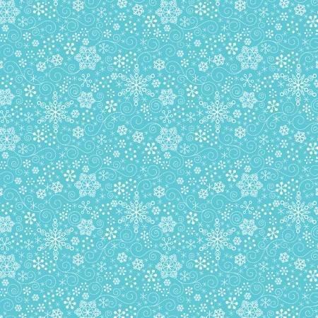 Contempo Mulberry Lane Snowflakes Dk Turq