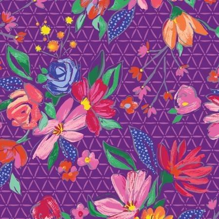 Benartex Summer Garden Flora Violet