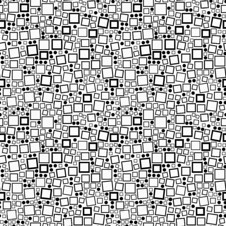 Contempo Squares & Dots Black On White