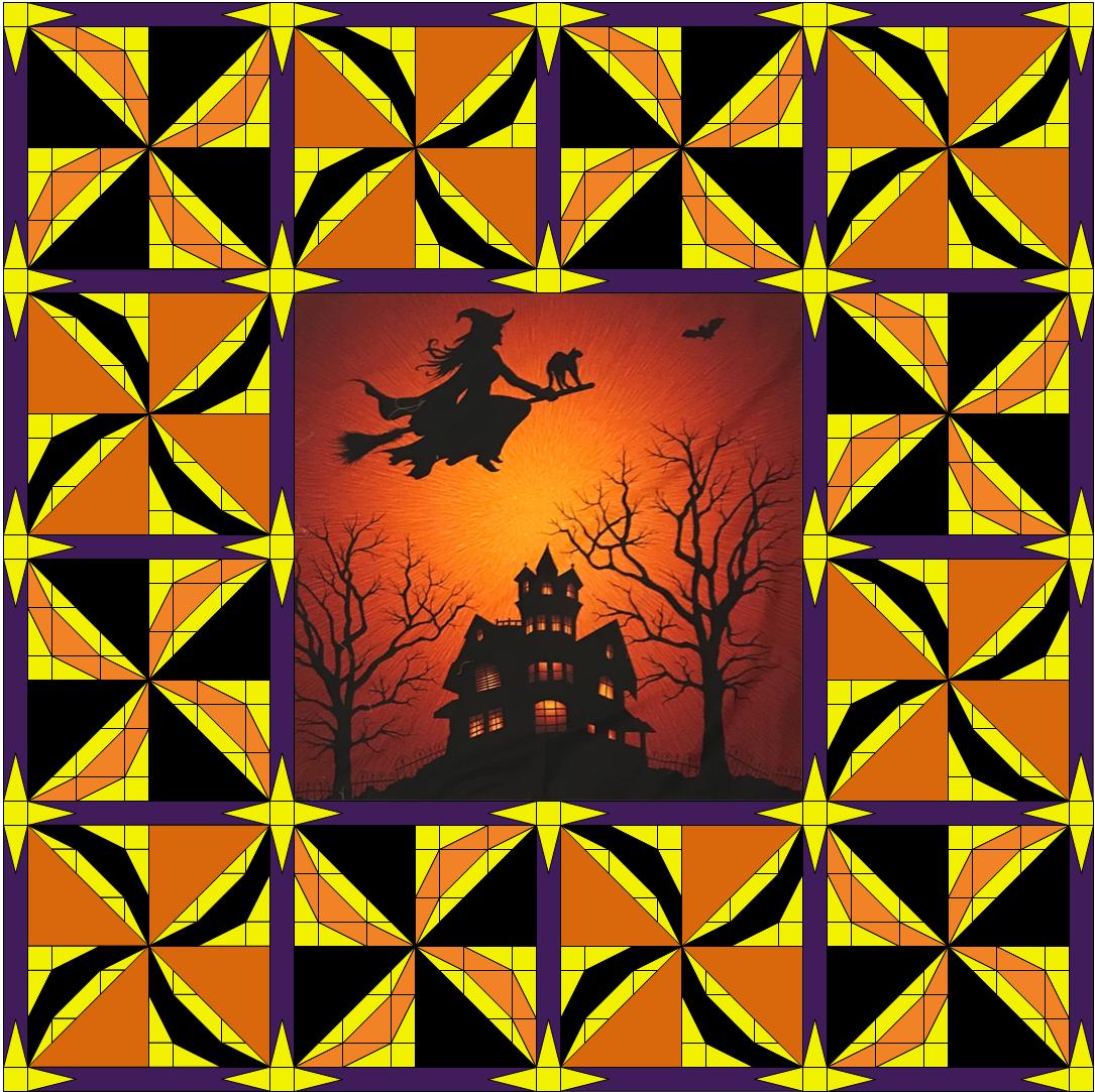 Halloween Spinning Pinwheel