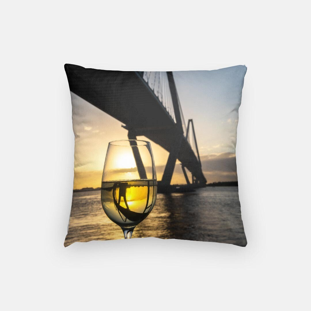 "Charleston Sunset 16"" Pillow"