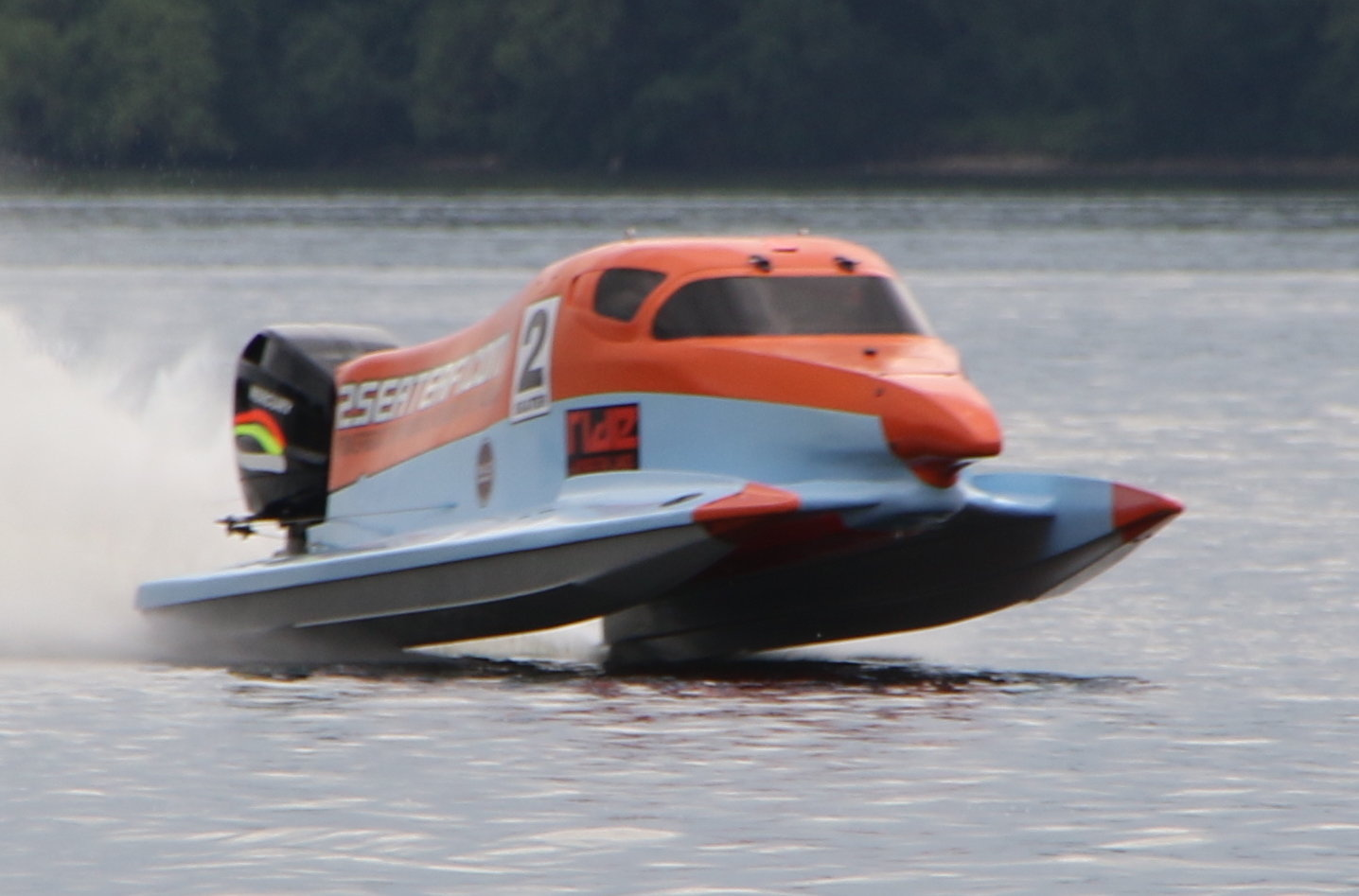 2 Seater F1 Powerboat Ride, Wyboston Lakes, September 1, 2018